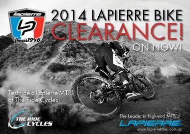 2014 Lapierre Clearance The Ride Cycles MTB